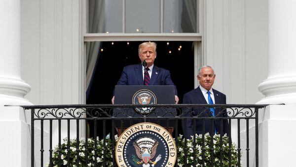 Donald Trump - Benyamin Netanyahu - Sputnik Türkiye