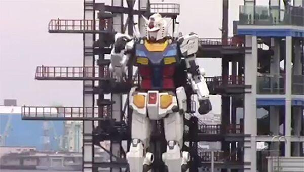 Japonya'nın Yokohama şehrindeki Gundam Fabrikası'nda bu hafta devinim denemeleri başarıyla gerçekleştirilen dev insansı robot - Sputnik Türkiye