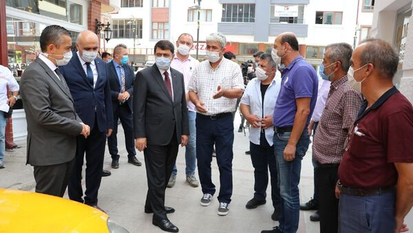 Ankara Valisi Vasip Şahin - koronavirüs denetimi - Sputnik Türkiye