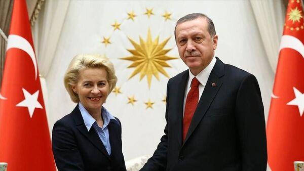 Cumhurbaşkanı Erdoğan-AB Komisyonu Başkanı Ursula Von Der Leyen - Sputnik Türkiye