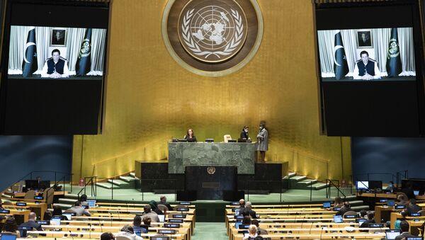 Pakistan Başbakanı İmran Han'ın BM Genel Kurulu konuşması - Sputnik Türkiye