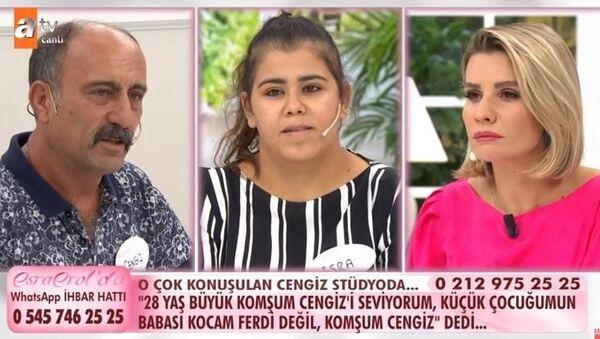 ATV ekranlarındaEsra Erol'un programında bir kadın, çocuğunun komşusundan olduğunu öğrenince sevinç gösterisinde bulundu. - Sputnik Türkiye