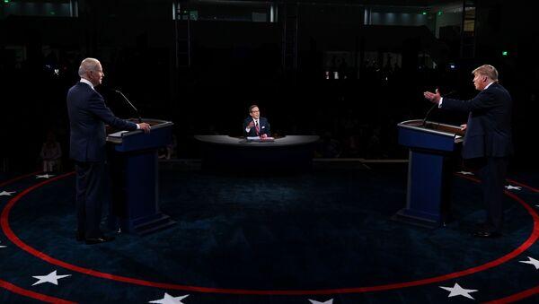Trump ile Biden-canlı yayın tartışması - Sputnik Türkiye