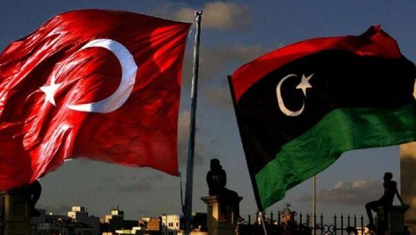 Türkiye-Libya bayrakları - Sputnik Türkiye