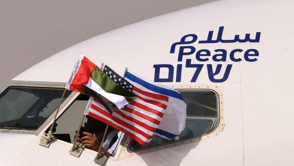 ABD, İsrail, BAE bayrakları - Sputnik Türkiye