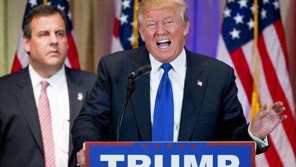 Donald Trump -  Chris Christie. - Sputnik Türkiye