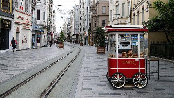 İstiklal Caddesi - simitçi - Sputnik Türkiye