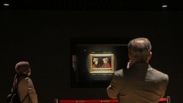 Fatih Sultan Mehmet'in portresi, Saraçhane başkanlık sarayı - Sputnik Türkiye