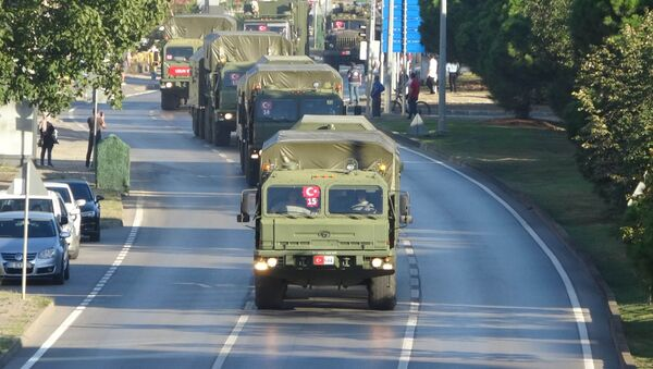 S-400'leri taşıyan ikinci konvoy Samsun'dan geçti - Sputnik Türkiye