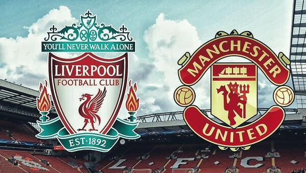 Liverpool kulübünün Manchester United ile maç duyurusu görseli - Sputnik Türkiye