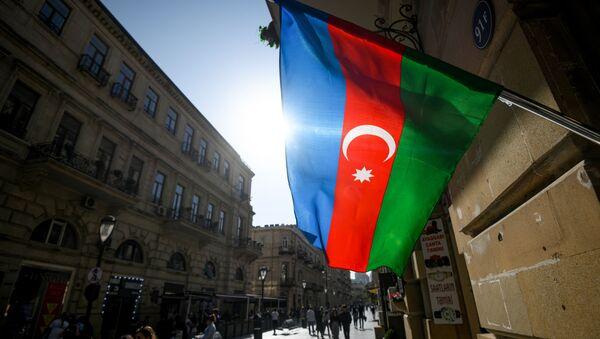 Azerbaycan bayrağı - Bakü  - Sputnik Türkiye
