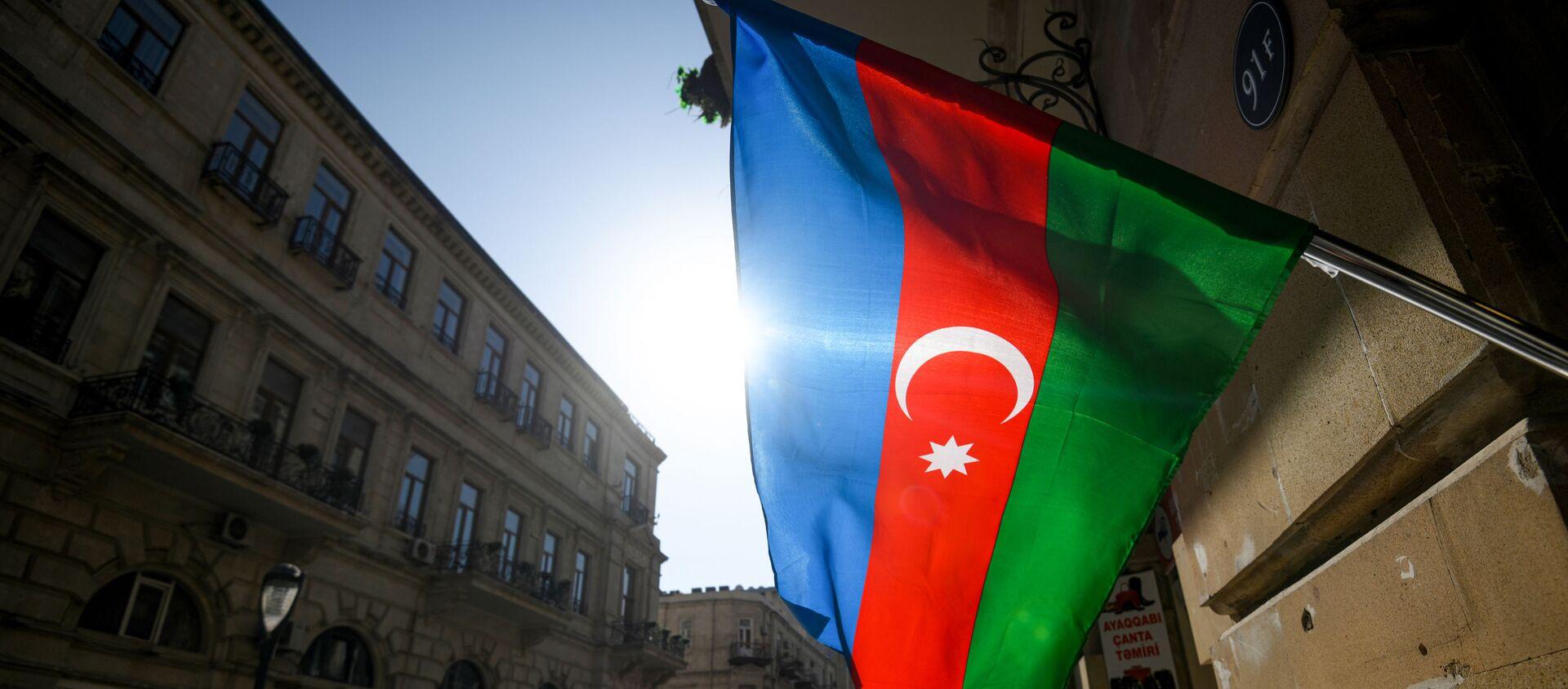 Azerbaycan bayrağı - Bakü  - Sputnik Türkiye, 1920, 27.02.2021
