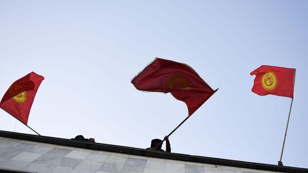 Kırgızistan, bayrak, protestolar - Sputnik Türkiye
