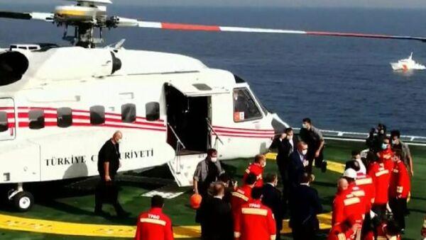 Cumhurbaşkanı Erdoğan, Fatih sondaj gemisini ziyaret ediyor - Sputnik Türkiye