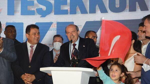 Kuzey Kıbrıs'ın yeni Cumhurbaşkanı Ersin Tatar - Sputnik Türkiye