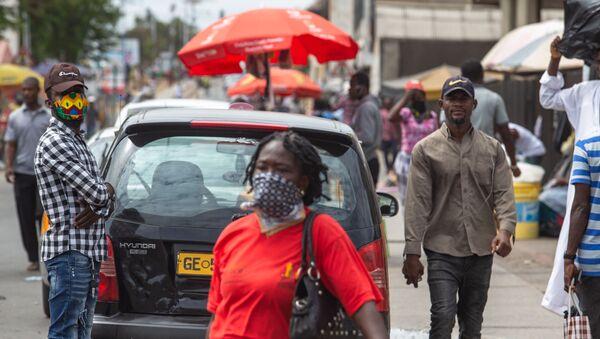 Batı Afrika - Gana - maske - koronavirüs - Sputnik Türkiye