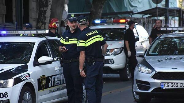 Tiflis polis memuru, Gürcistan - Sputnik Türkiye