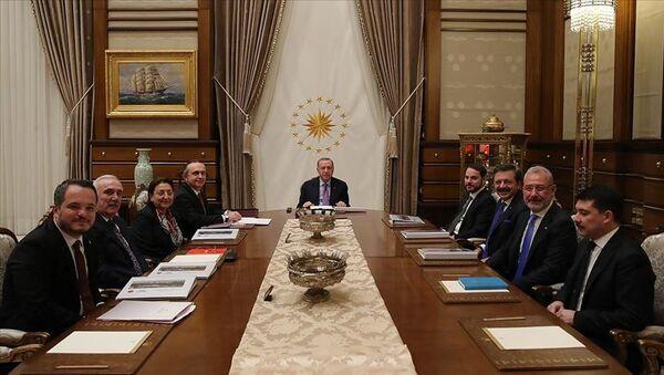 Türkiye Varlık Fonu A.Ş Yönetim Kurulu ve Türkiye CumhurbaşkanıRecep Tayyip Erdoğan - Sputnik Türkiye