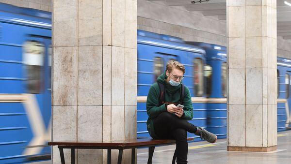 koronavirüs, metro, Rusya - Sputnik Türkiye