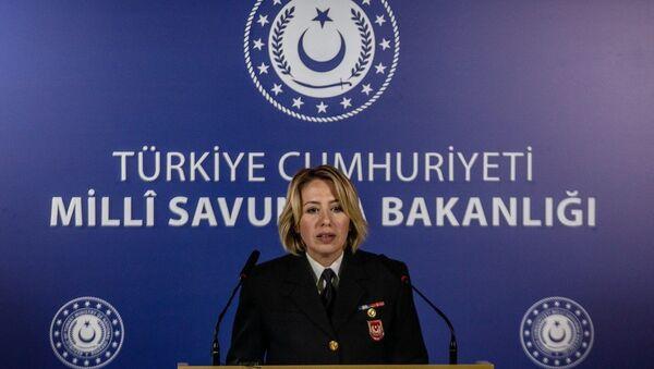 Milli Savunma Bakanlığı (MSB) Basın Sözcüsü Yb. Şebnem Aktop - Sputnik Türkiye