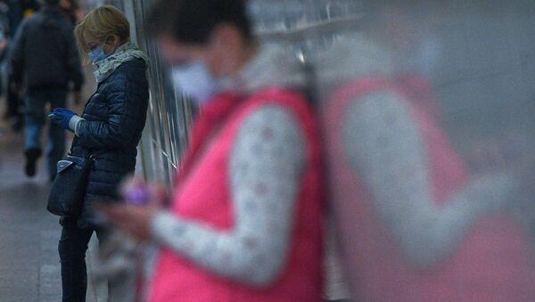 Rusya koronavirüs, maske - Sputnik Türkiye