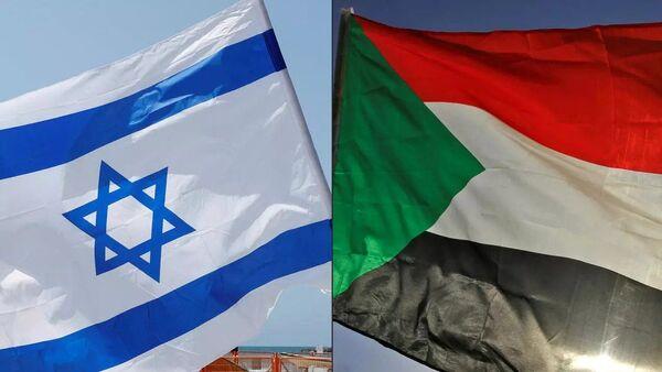 İsrail - Sudan bayrakları - Sputnik Türkiye
