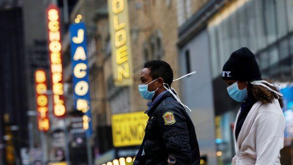 ABD - New York + Manhattan - maske  - koronavirüs - Sputnik Türkiye