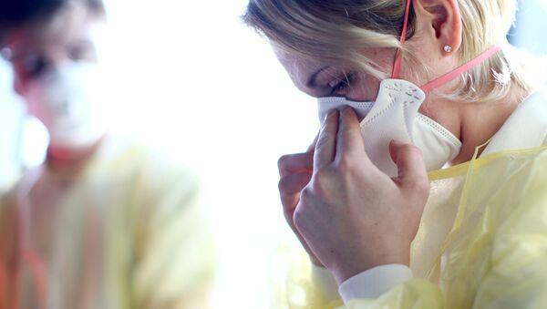 Avusturya - maske - koronavirüs -Viyana Uluslararası Havalimanı - Sputnik Türkiye