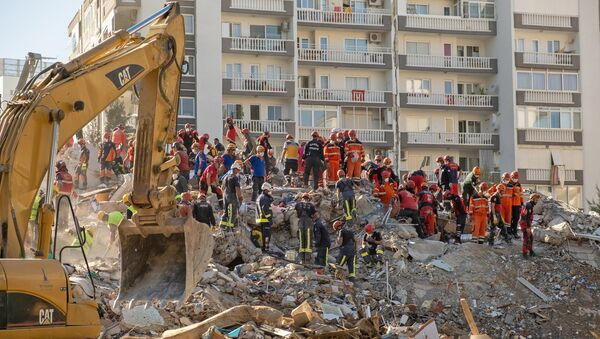 İzmir depremi, arama kurtarma çalışmaları - Sputnik Türkiye