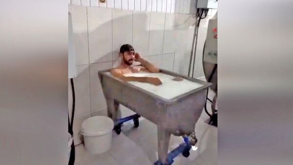 Süt banyosu - Sputnik Türkiye