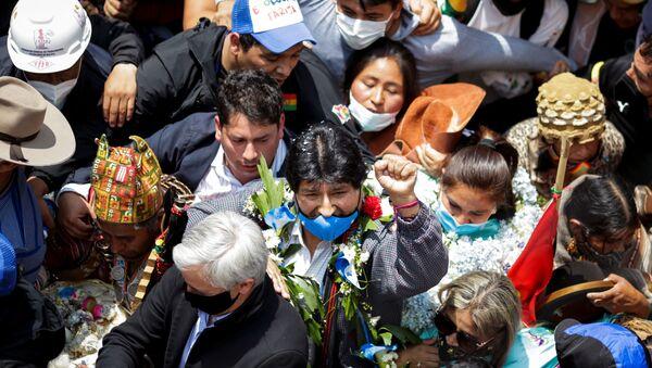 Evo Morales, 1 yıllık sürgünün ardından ülkesine geri döndü. - Sputnik Türkiye
