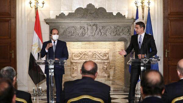 Mısır lideri Sisi ve Yunanistan Başbakanı Miçotakis - Sputnik Türkiye
