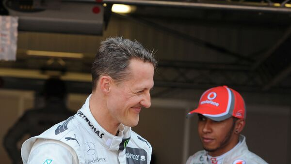 Michael Schumacher, Lewis Hamilton, Monaco Grand Prix 2012 - Sputnik Türkiye