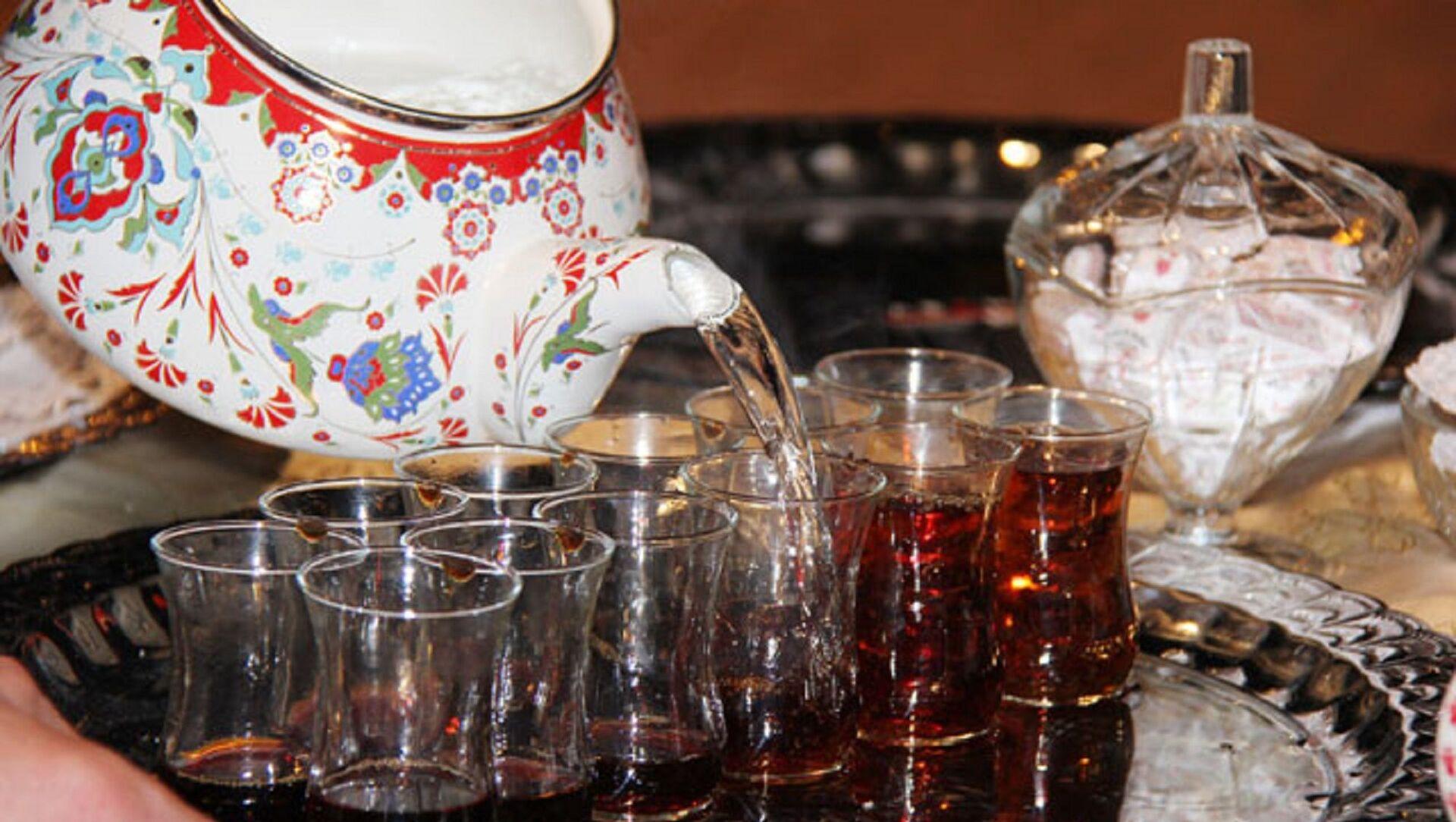Çay - çay içmek - çay bardağı - Sputnik Türkiye, 1920, 25.03.2021