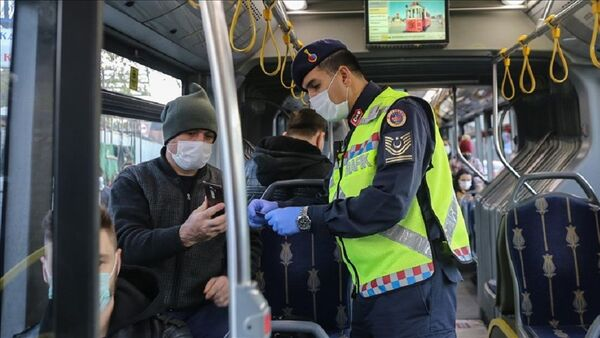 Koronavirüs, denetim, metrobüs - Sputnik Türkiye