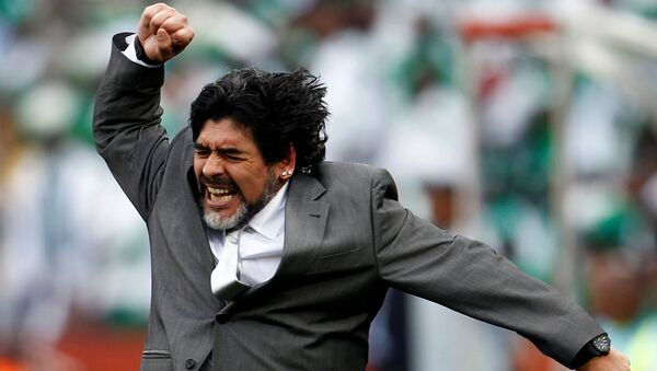 Efsane futbolcu Maradona - Sputnik Türkiye