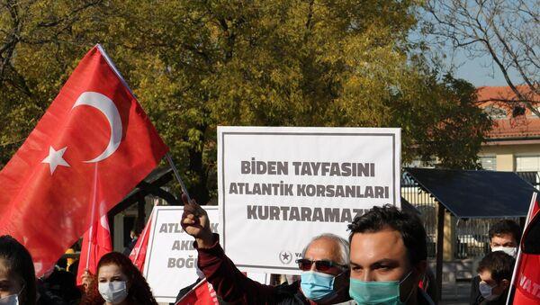 Vatan Partisi'nin Almanya Büyükelçiliği'nin önünde düzenlediği protesto  - Sputnik Türkiye