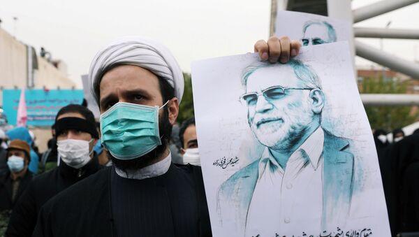 İranlı nükleer bilimci Muhsin Fahrizade'ye düzenlenen suikast Tahran'da protesto edildi. - Sputnik Türkiye