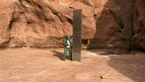 ABD Utah'ta bulunan monolit - Sputnik Türkiye