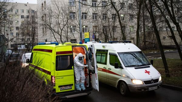 koronavirüs, ambulans, Moskova, Rusya - Sputnik Türkiye