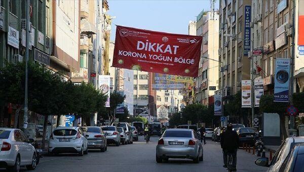 Hatay, 'korona yoğun bölge' afişi - Sputnik Türkiye