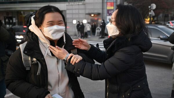 Güney Kore – Sınav – koronavirüs – öğrenci – maske  - Sputnik Türkiye