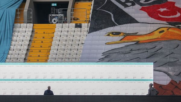 Beşiktaş Kulübü, Vodafone Park'a kurduğu led ekranlarda taraftarlarının görüntüsünü maç esnasında yayınlayacak. - Sputnik Türkiye