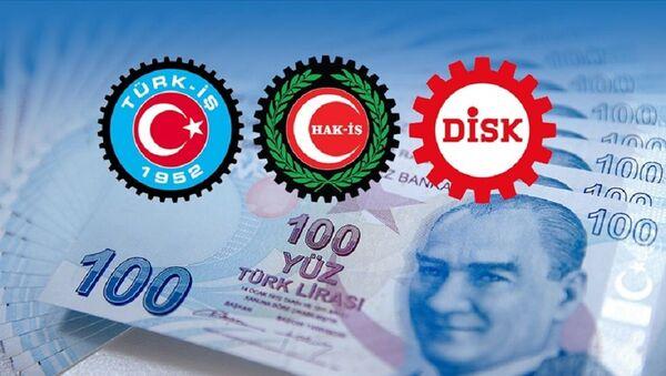 Türk-İş, Hak-İş ve DİSK, asgari ücret - Sputnik Türkiye