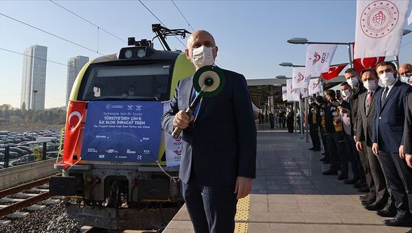 Türkiye'den Çin'e gidecek ilk ihracat treni İstanbul'dan uğurlandı - Sputnik Türkiye
