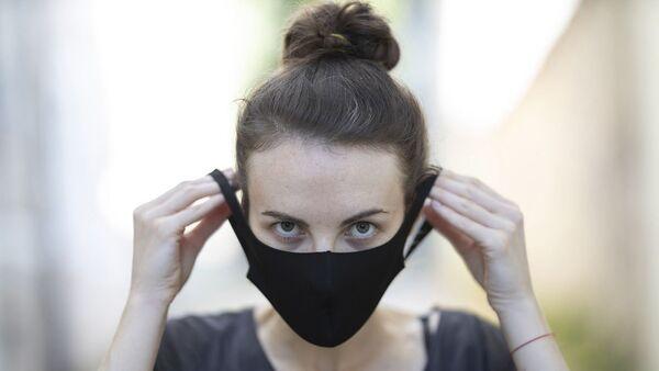 Siyah maske - maske - koronavirüs - Sputnik Türkiye