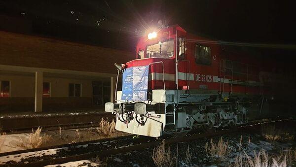 Türkiye'den Çin'e gidecek ilk blok ihracat treni Gürcistan'da - Sputnik Türkiye