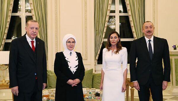 Cumhurbaşkanı Erdoğan, Bakü'de resmi aile yemeğine katıldı - Sputnik Türkiye