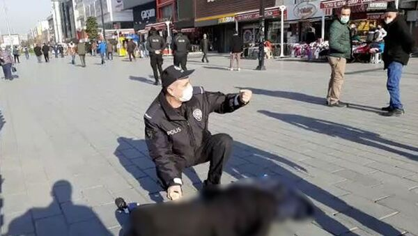 Esenyurt meydanda bayılan kadın, polis - Sputnik Türkiye