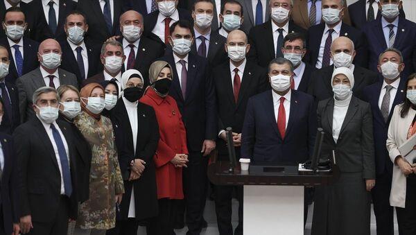 Süleyman Soylu, Fahrettin Koca, Murat Kurum - Sputnik Türkiye
